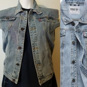 Other - Distressed Unisex Blue Jean Denim Vest